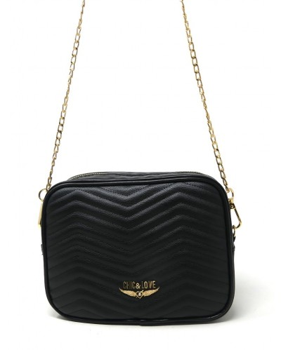 BOLSO MUJER BLACK CHIC & LOVE CL0007