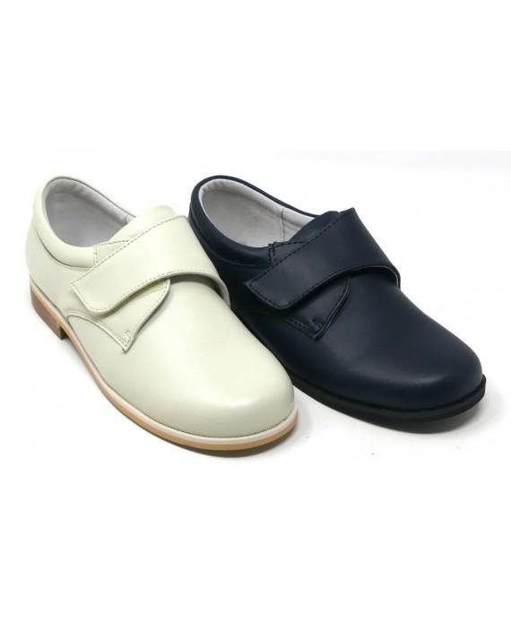 f2bff280 ZAPATO COMUNIÓN NIÑO PIEL VELCRO BUBBLE BOBBLE B521 - Zapatos Carla